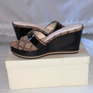 Coach Wedge Sandals Size 7.5